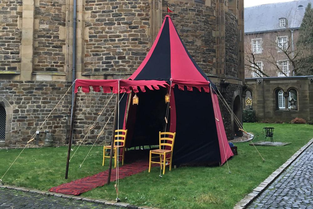 middeleeuwse tent Hugo